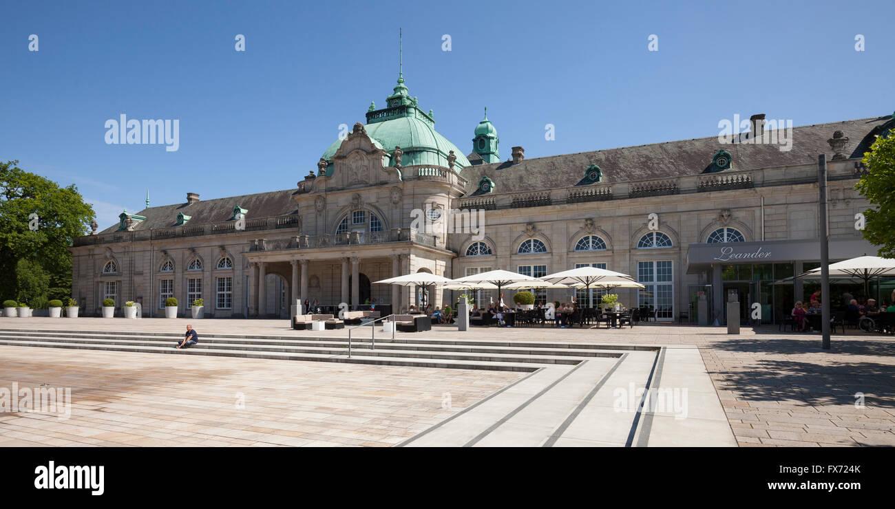 Kaiserpalais, spa gardens, Bad Oeynhausen, Weser Uplands, North Rhine-Westphalia, Germany Stock Photo