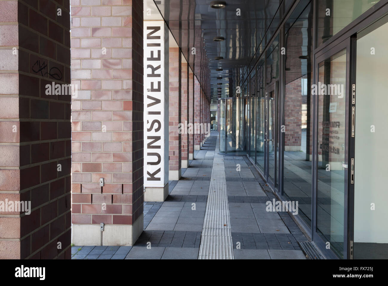 Colonnade, art society, Center for Art and Creativity, Dortmunder U, Dortmund, Ruhr district, North Rhine-Westphalia, - Stock Image