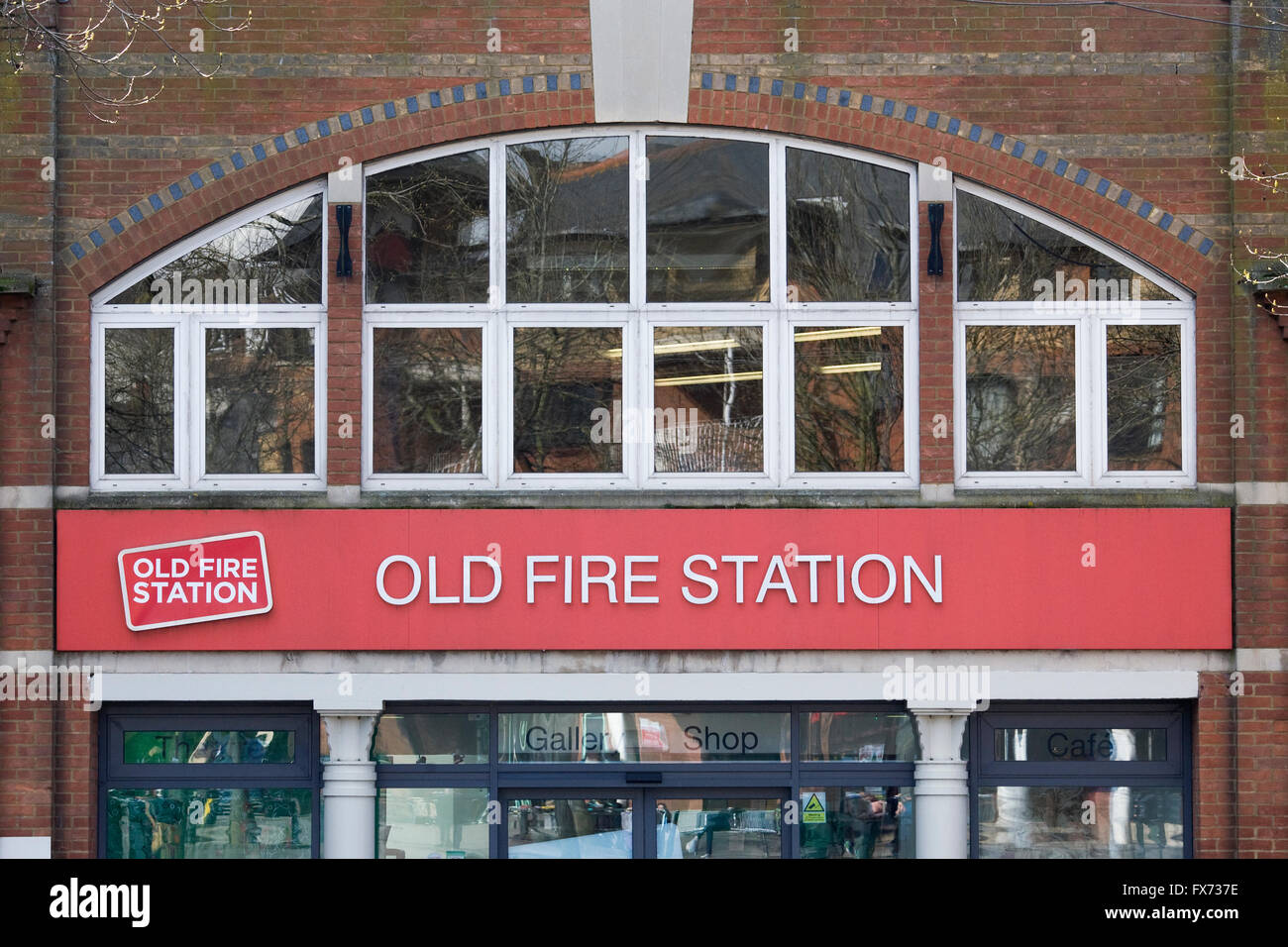 Frontage of The Old Fire Station in Oxford. - Stock Image