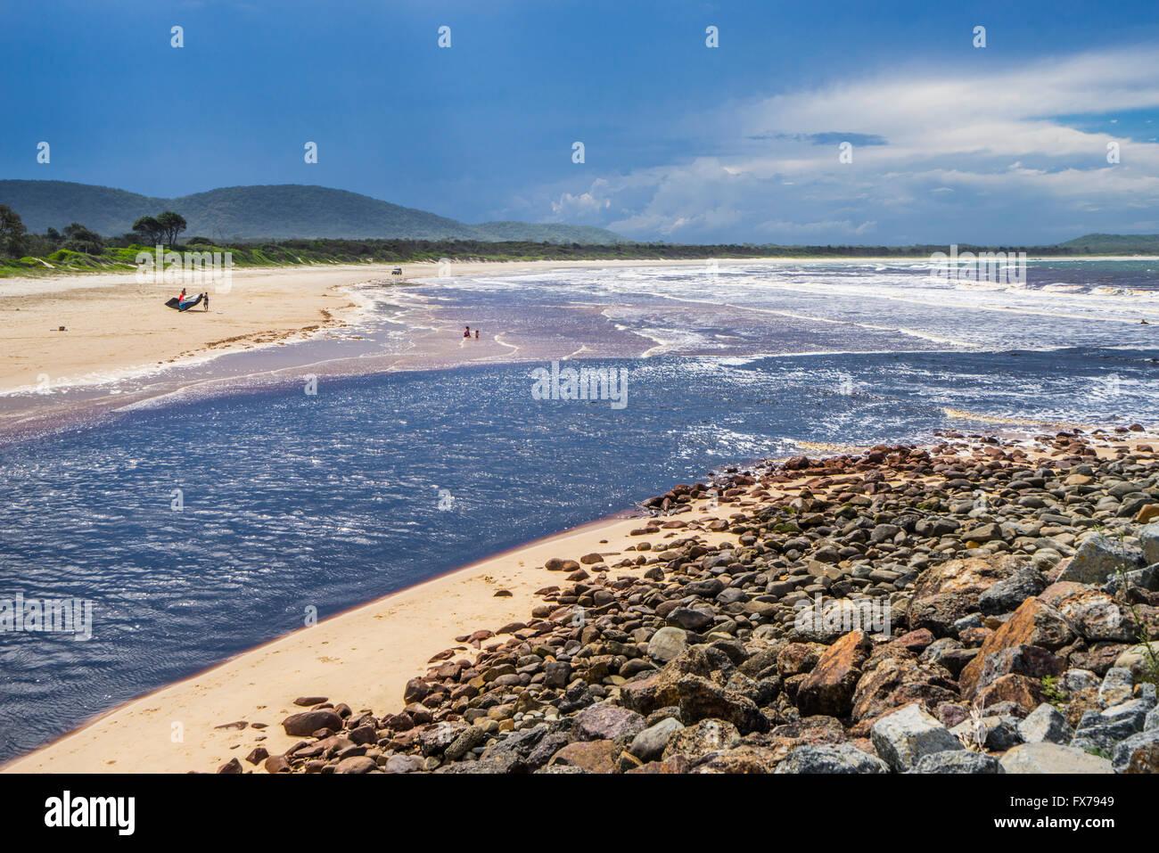 Australia, New South Wales, Mid North Coast region, Crescent Head, view of Killick Creek - Stock Image