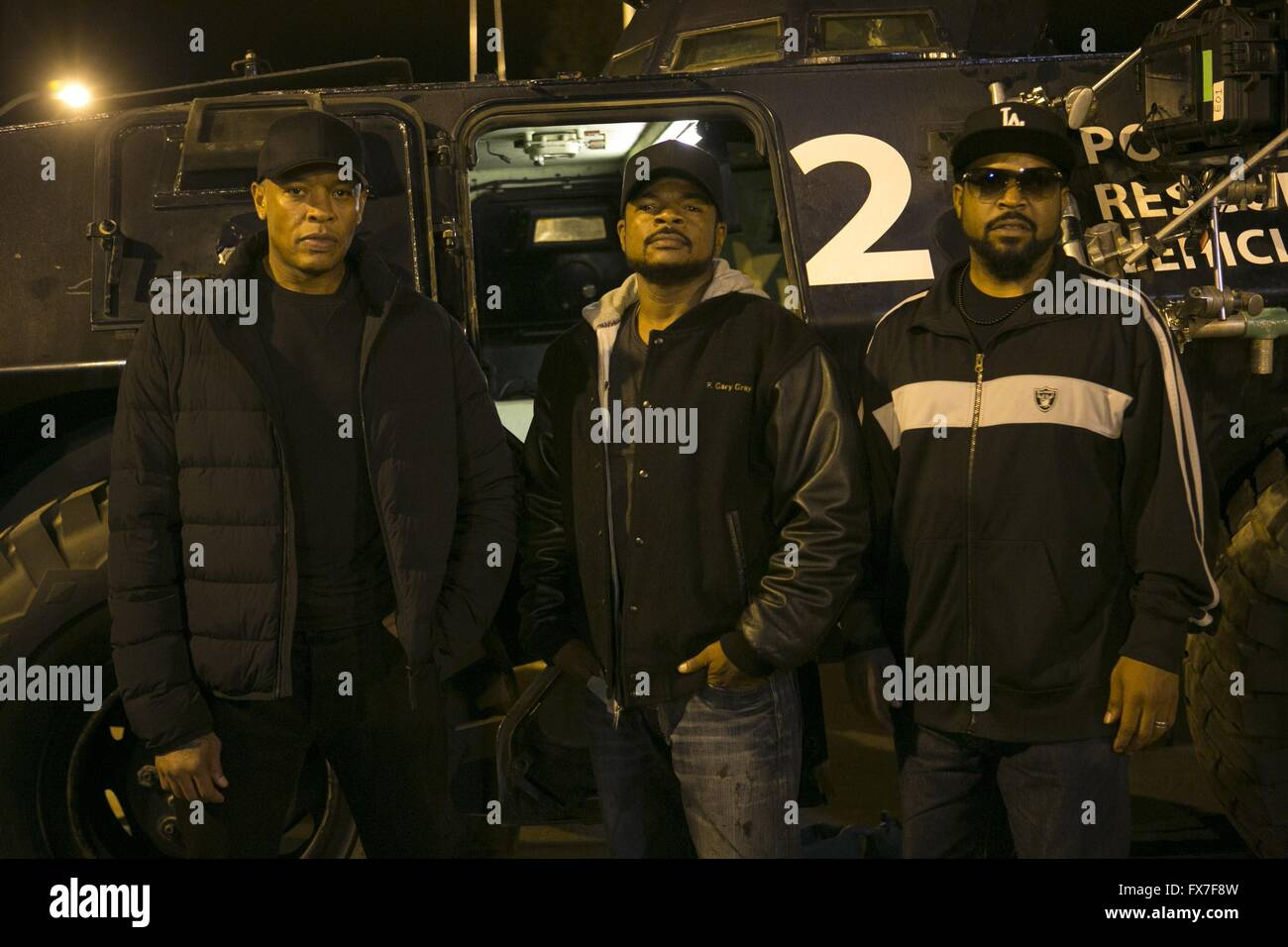 Straight Outta Compton Year : 2015 USA Realisateur : F. Gary Gray Dr. Dre, F. Gary Gray, Ice Cube Shooting picture - Stock Image