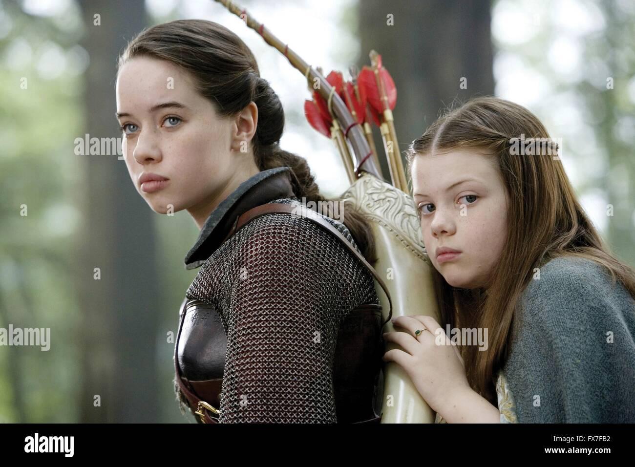 The Chronicles of Narnia: Prince Caspian Year : 2008 UK / USA Director : Andrew Adamson Georgie Henley, Anna Popplewell, - Stock Image