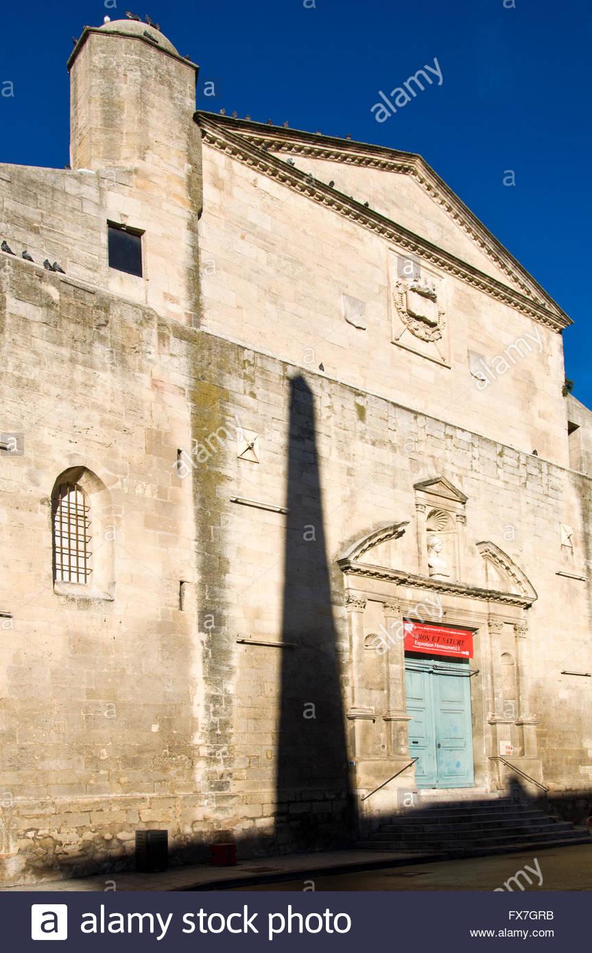 Sainte-Anne parish, Place de la République, Arles, Provence, France - Stock Image