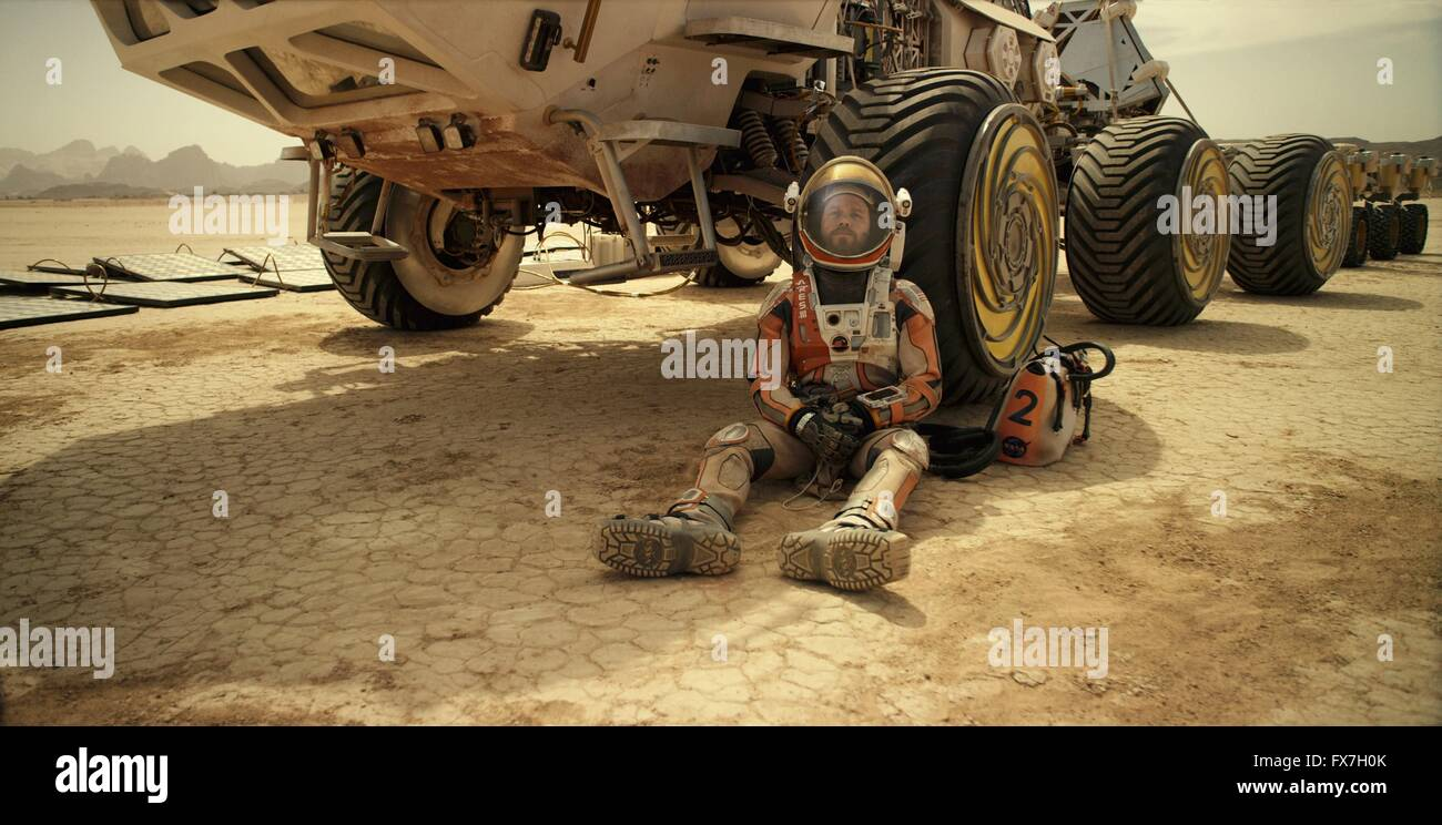 The Martian Year : 2015 USA Director : Ridley Scott Matt Damon - Stock Image