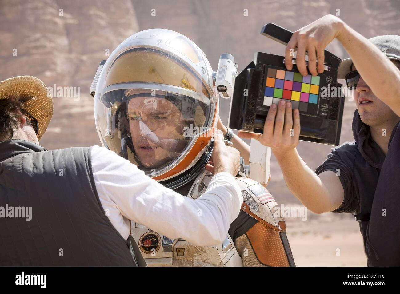 The Martian Year : 2015 USA Director : Ridley Scott Matt Damon Shooting picture - Stock Image