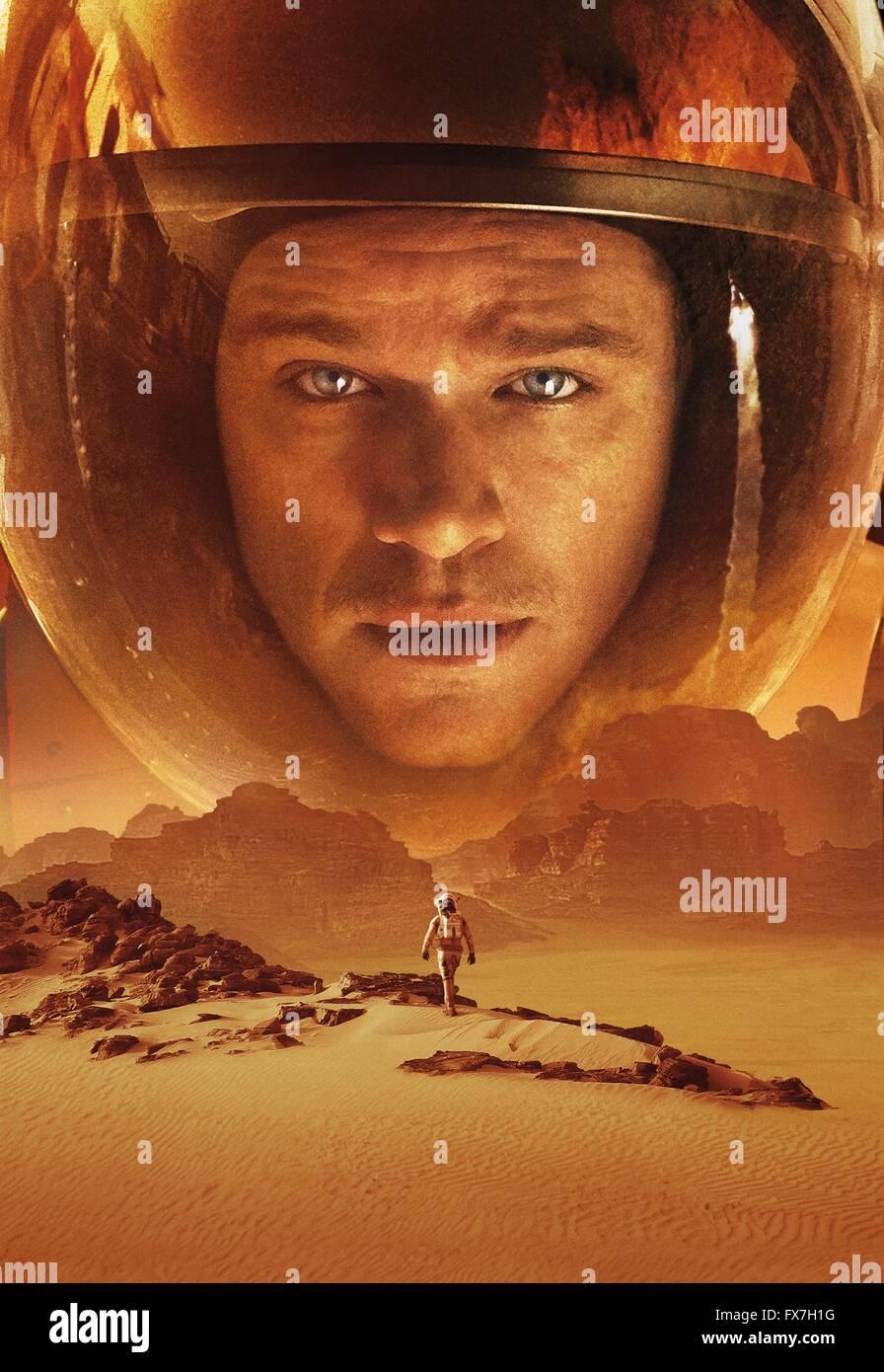 The Martian Year : 2015 USA Director : Ridley Scott Matt Damon Art Work - Stock Image