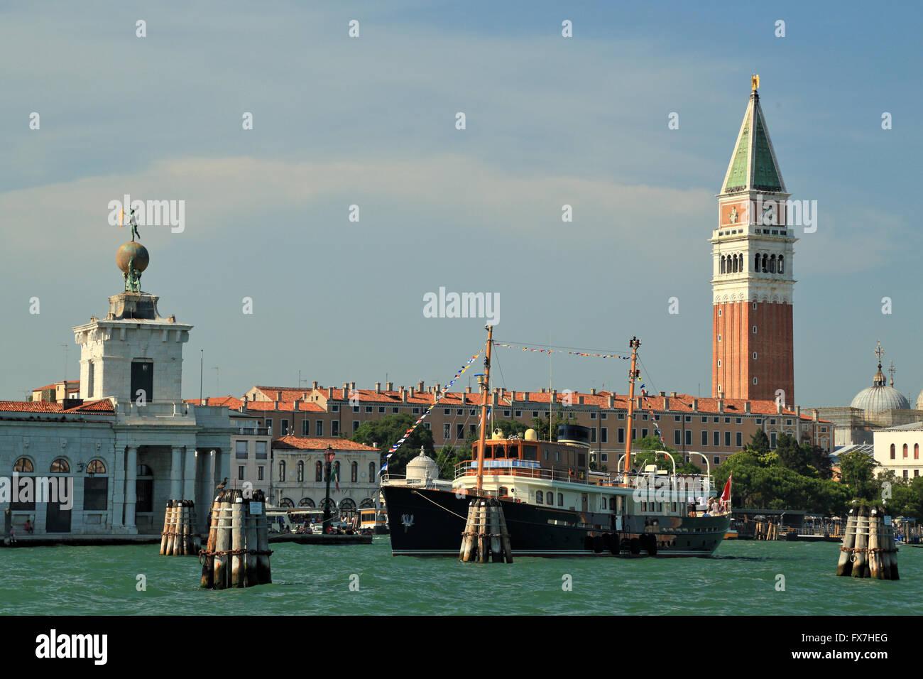 Luxury motor yacht Taransay, IMO 9776054 in Venice - Stock Image