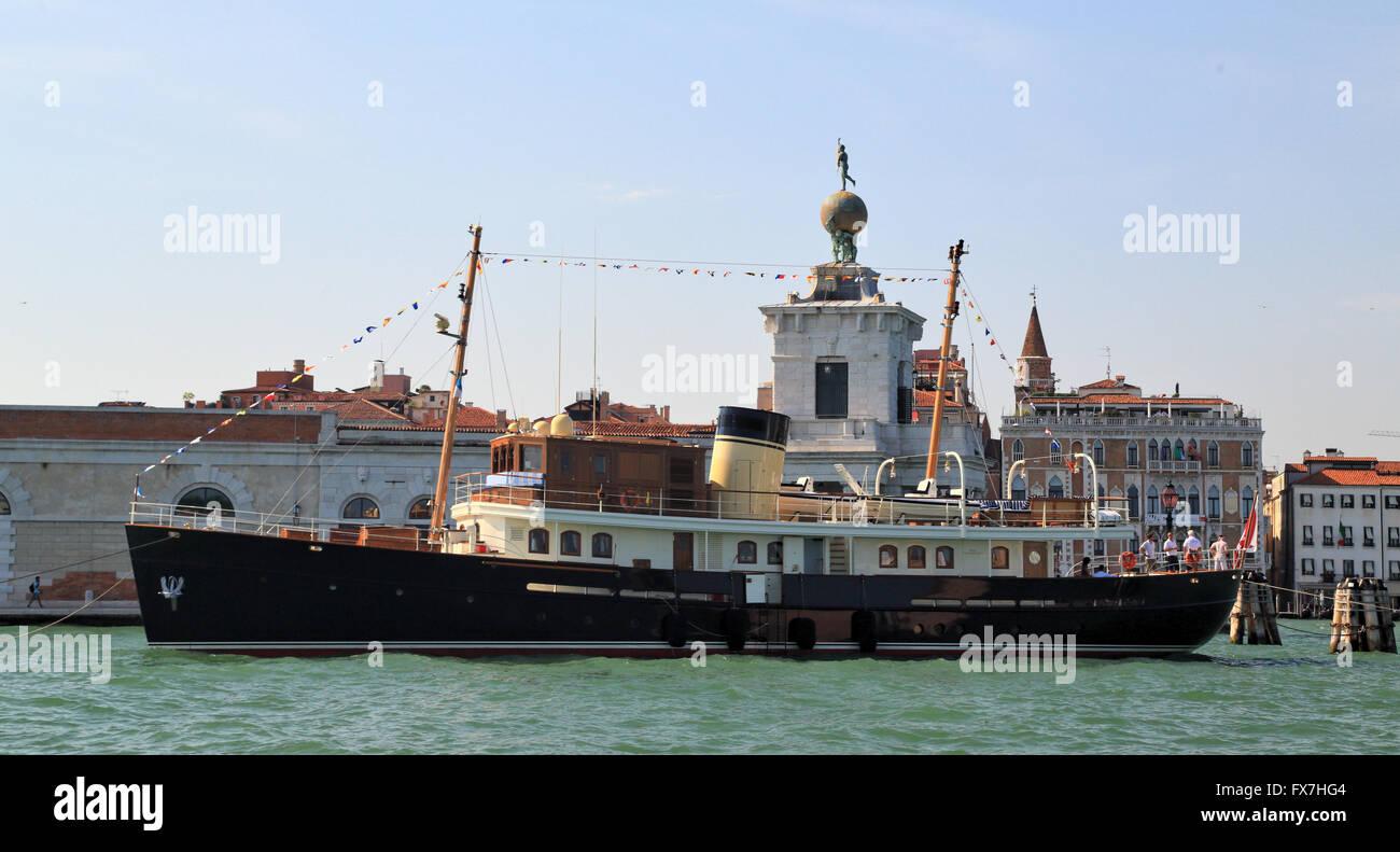 Luxury motor yacht Taransay, IMO 9776054 - Stock Image
