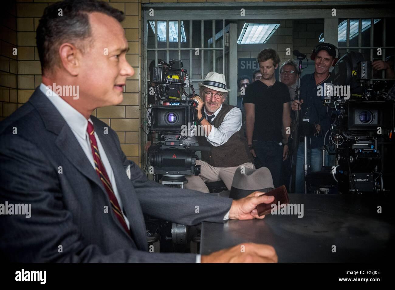 Bridge of Spies Year : 2015 UK Director : Steven Spielberg Tom Hanks, Steven Spielberg Shooting picture - Stock Image