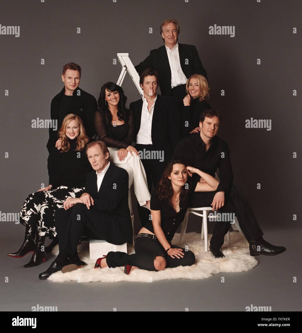 Love Actually Year : 2003 USA Director : : Richard Curtis Keira Knightley, Laura Linney, Bill Nighy, Hugh Grant, - Stock Image
