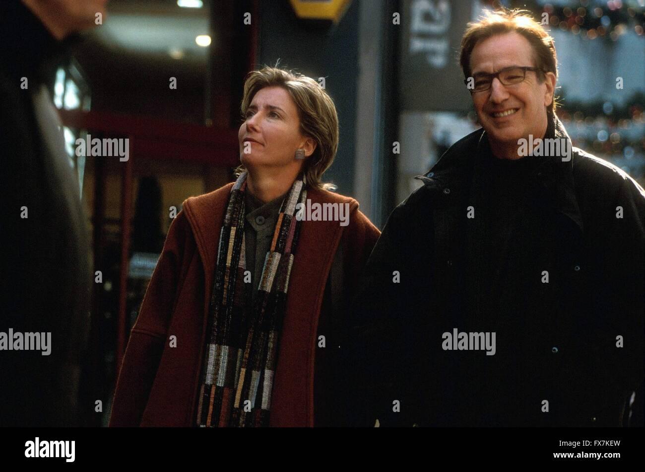 Love Actually Year : 2003 USA Director : : Richard Curtis Alan Rickman, Emma Thompson - Stock Image