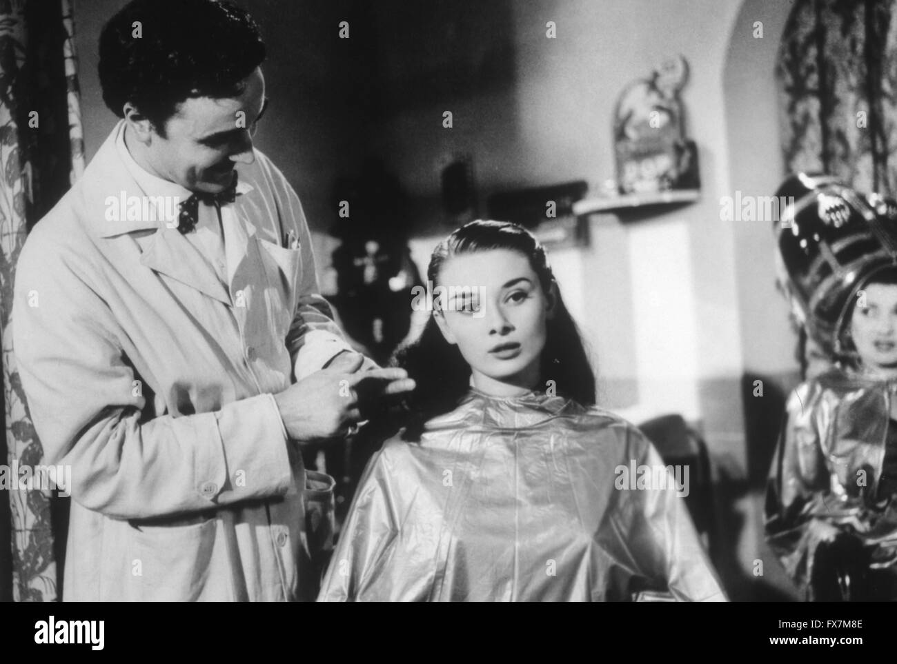 Roman Holiday Year : 1953 USA Director : William Wyler Audrey Hepburn, Paolo Carlini - Stock Image