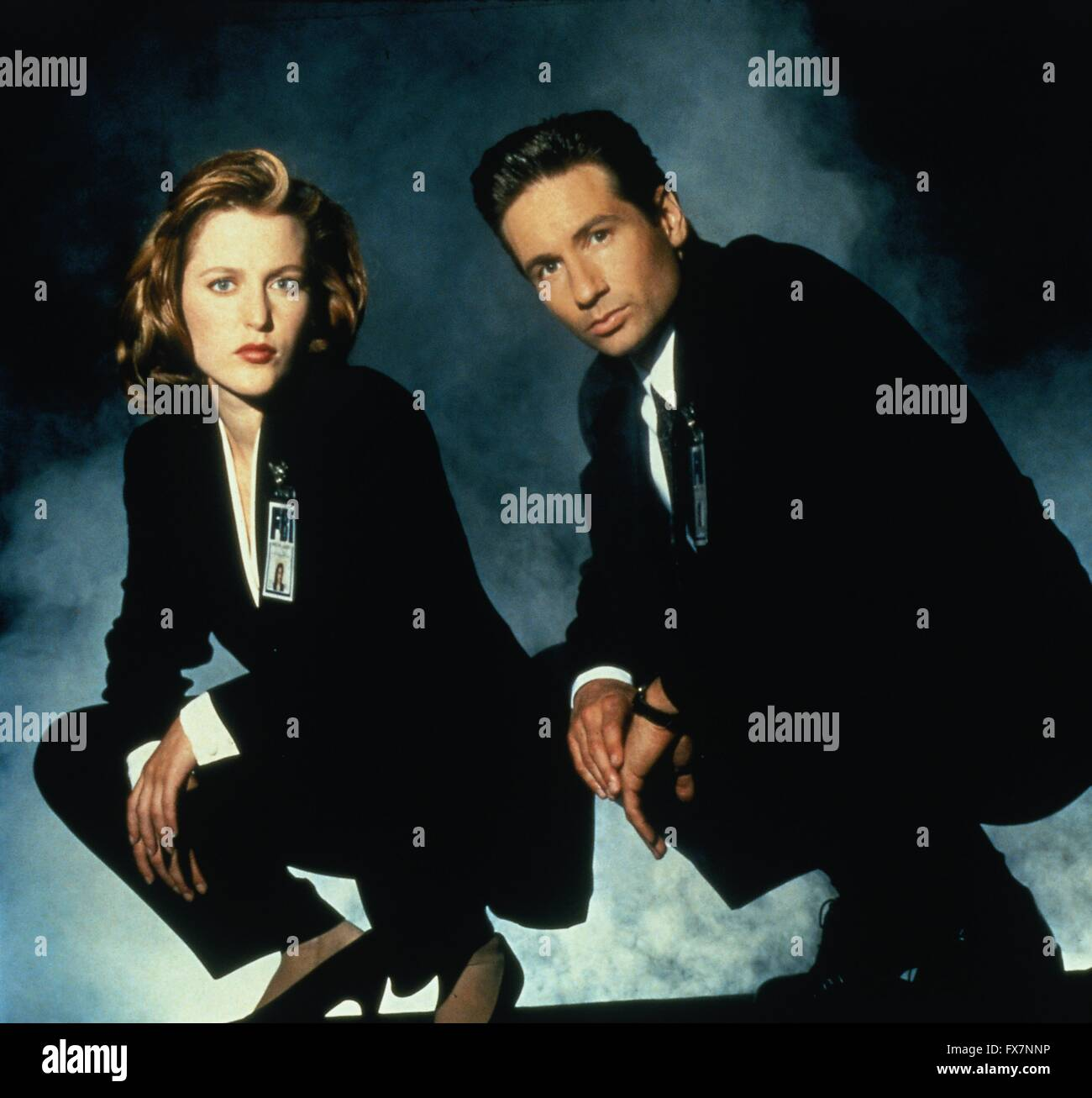 The X Files TV Series 1993 - 2002 USA 1995 Season 3 Created by Chris Carter David Duchovny , Gillian Anderson - Stock Image