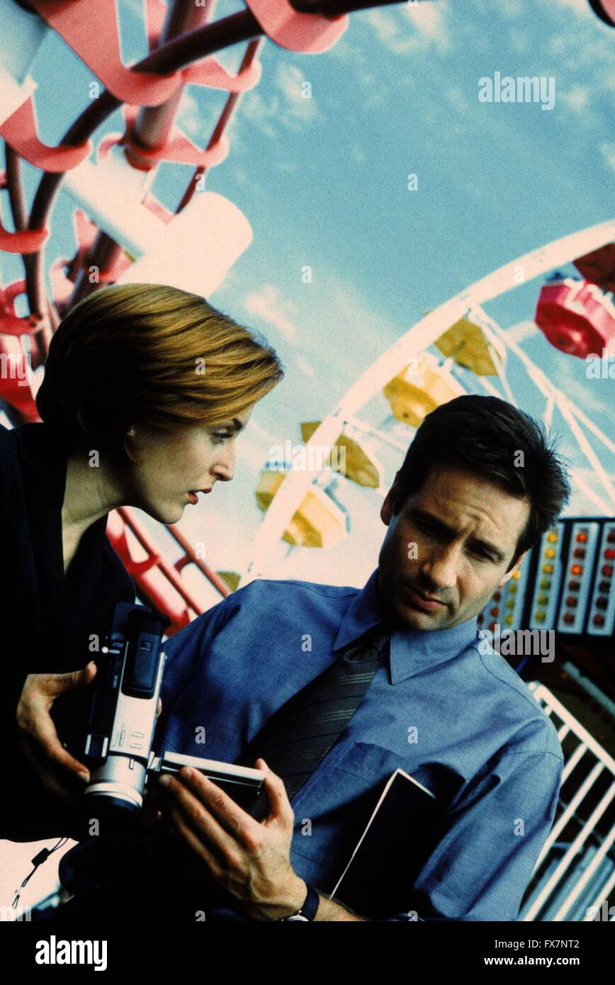 The X Files TV Series 1993 - 2002 USA 1999 Season 7 Created by Chris Carter David Duchovny, Gillian Anderson - Stock Image