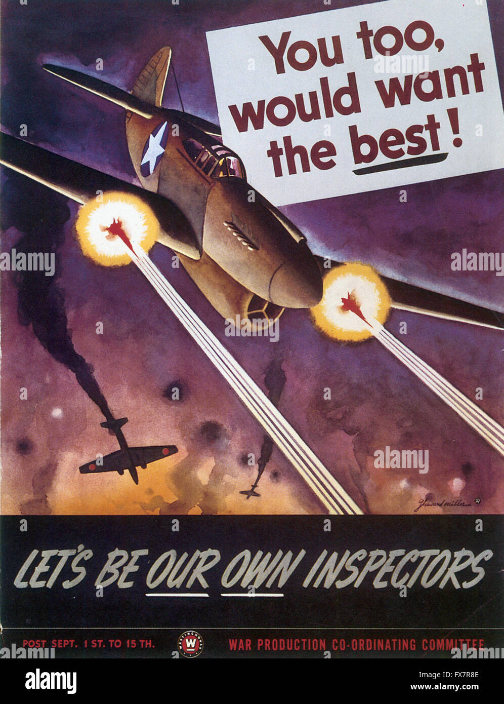 You Would Want the Best - World War II - U.S propaganda Poster - Stock Image
