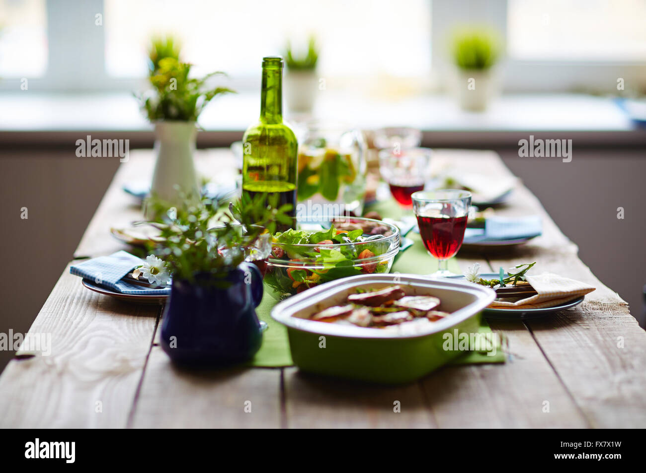 Served table - Stock Image