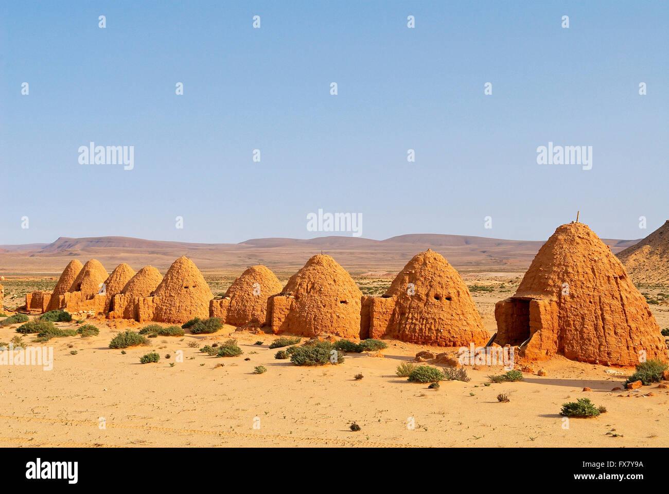 Morocco, Smara. Old army barraks, the Sahraoui, Former Spanish Sahara. - Stock Image