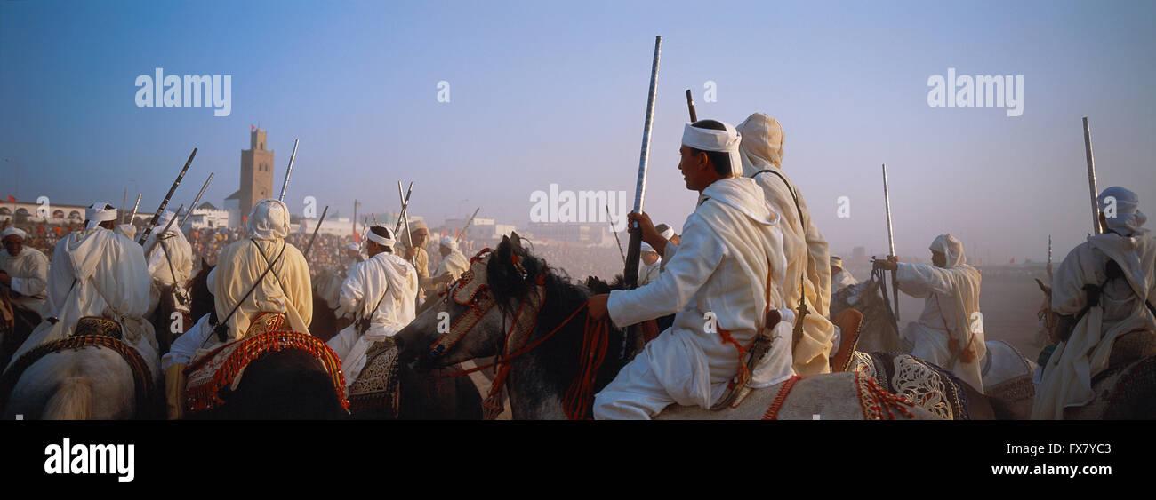 Morocco El Jadida Fantasia Moussem Moulay Abdalah