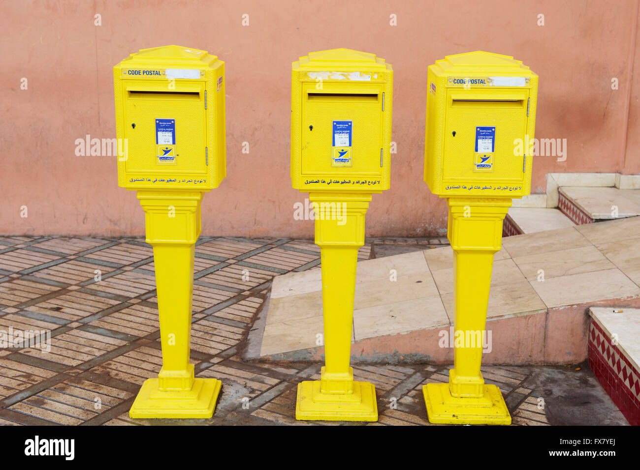 Morocco, Marrakech, French design letter box - Stock Image
