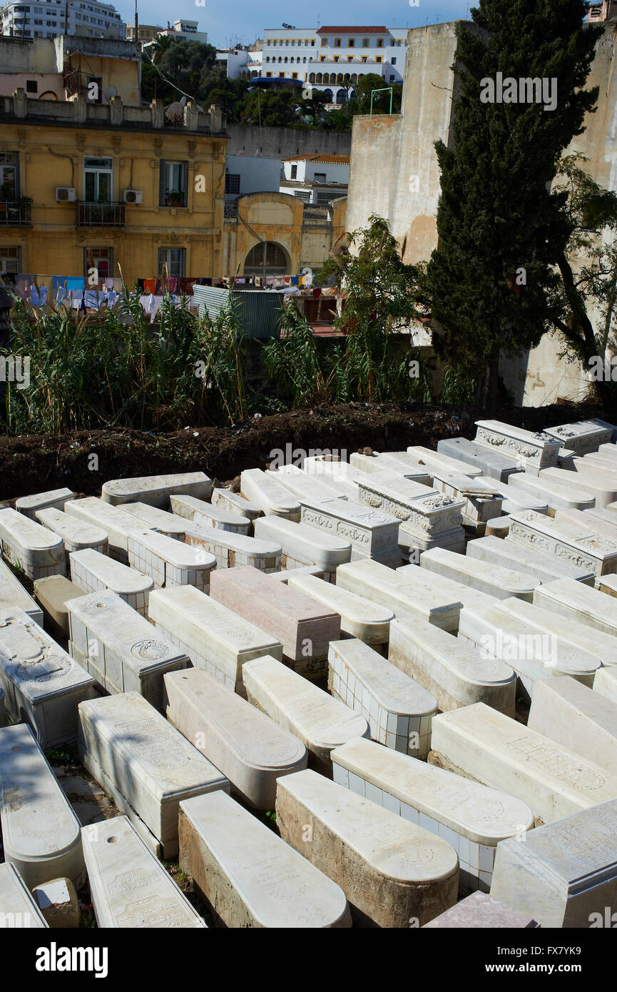 Morocco, Tangier, Jew cemetery - Stock Image