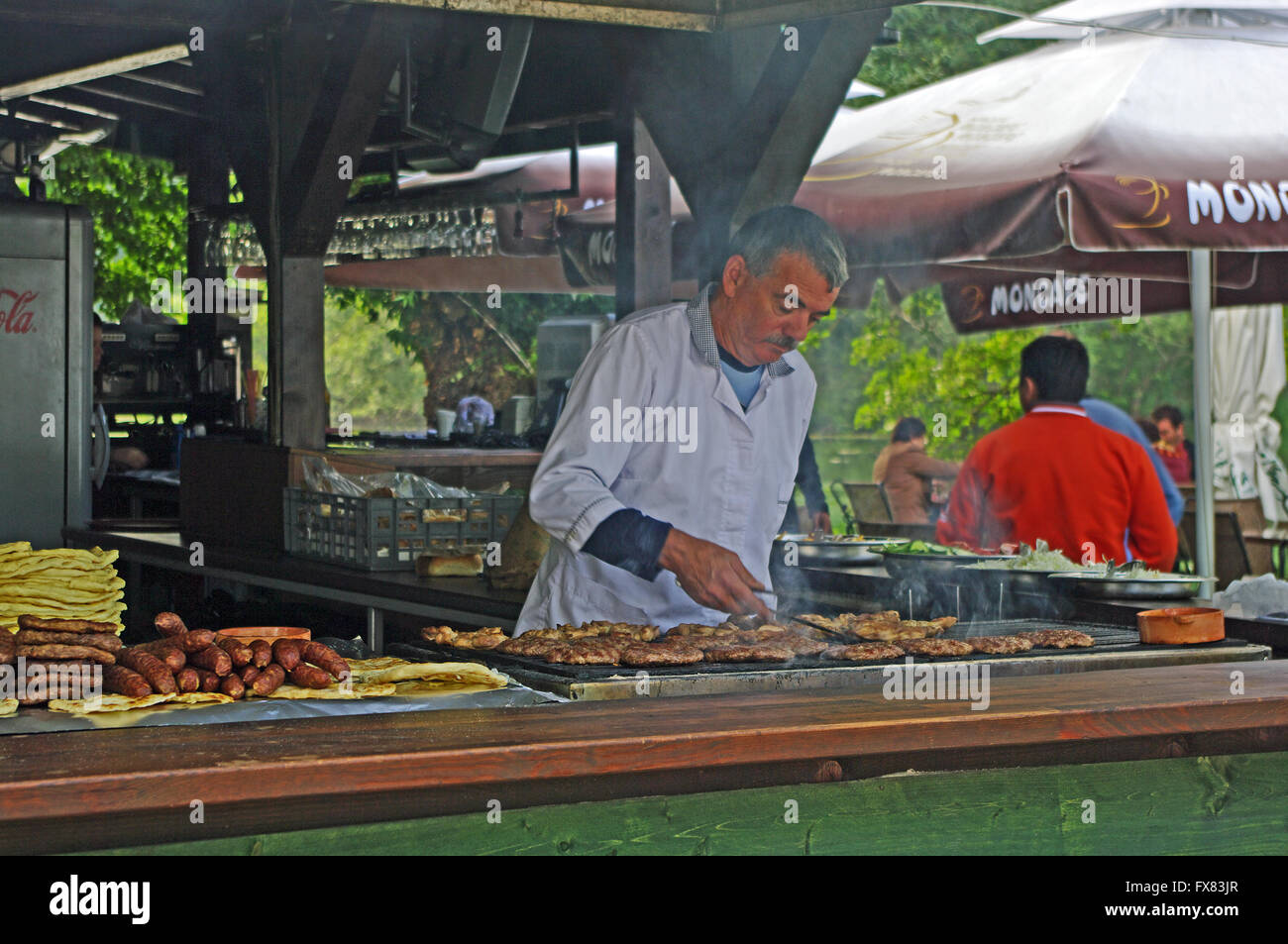 Snake Bar, Fast Food, Near St Naun Monastery, Macedonia - Stock Image