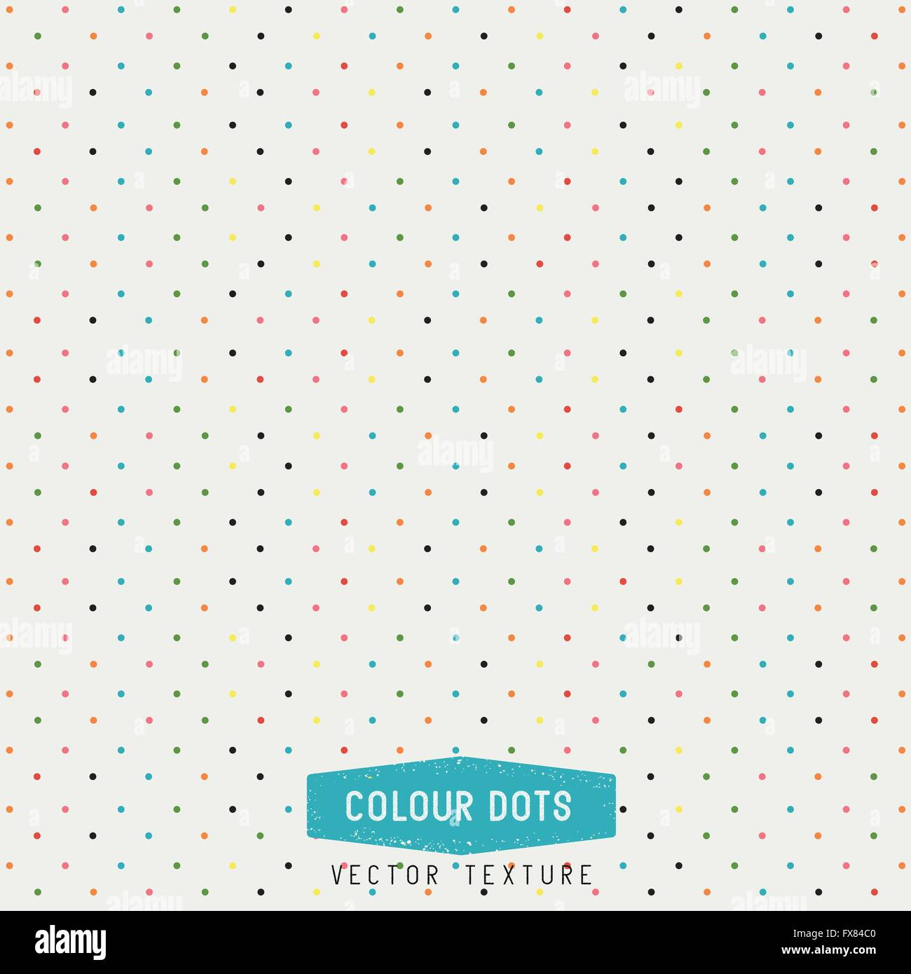 Colourful Dots Vector Texture. dots background. Vector Illustration. Hand made. - Stock Image