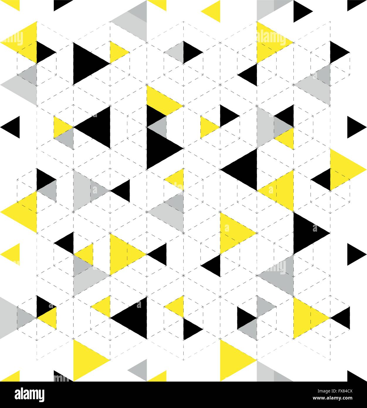 Seamless Geometric Triangle Pattern. Abstract geometric background design. Vector illustration. - Stock Image