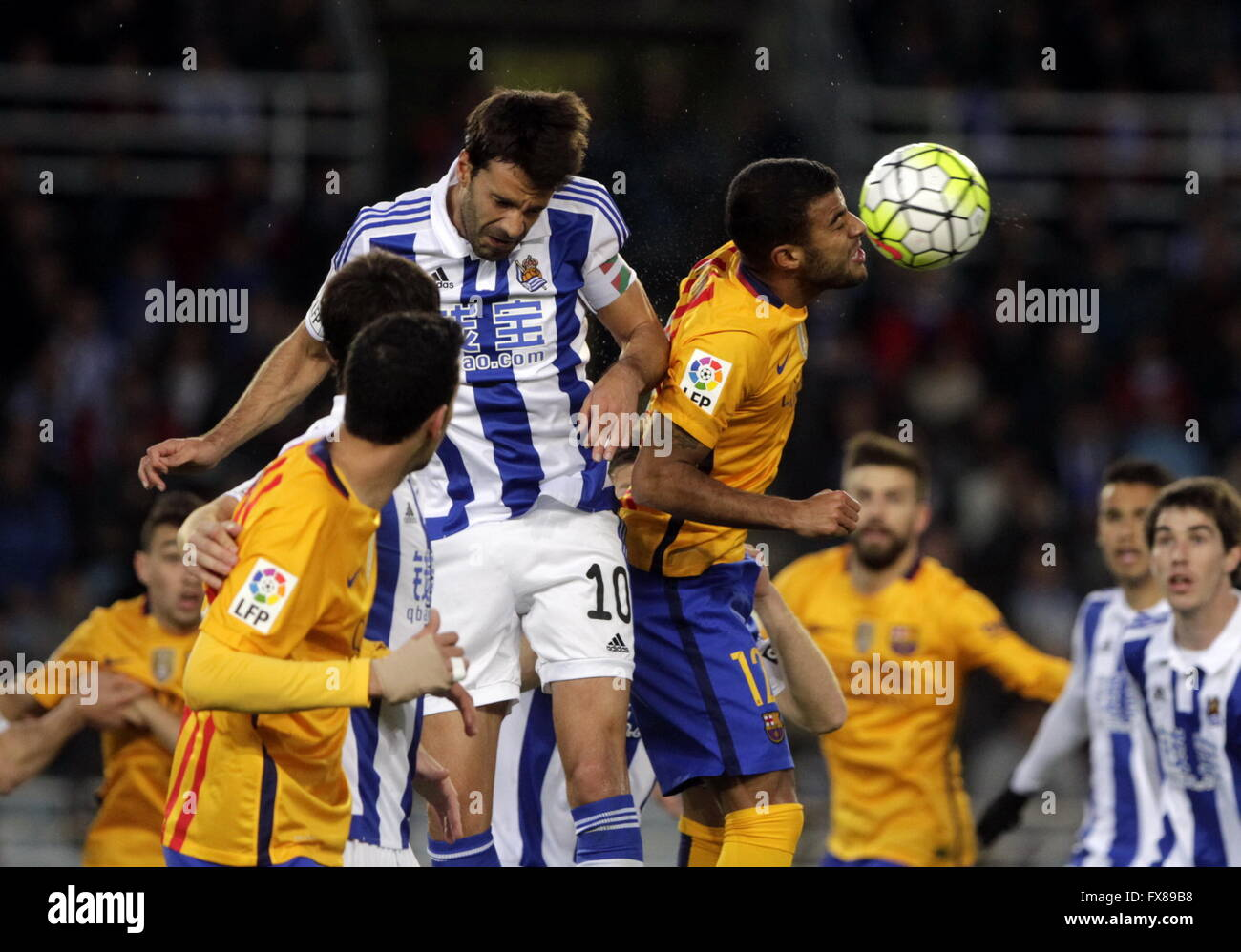 Rafinha Barcelona in action during the La Liga match espagolde Real Sociedad - FC Barcelona at Anoeta Stadium - Stock Image