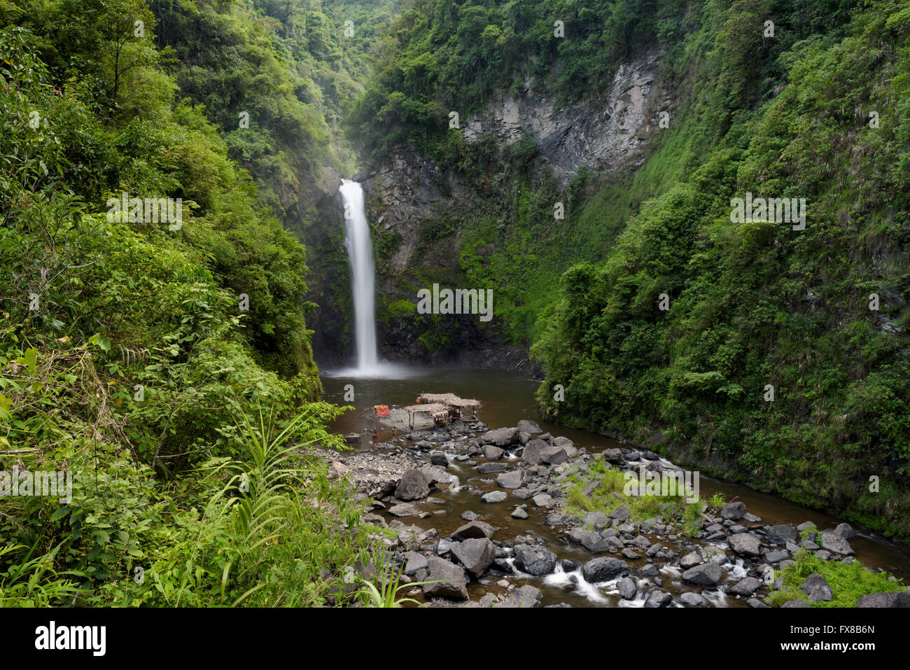 Tappia water falls near Batad rice terraces in Banaue - Philippines. - Stock Image