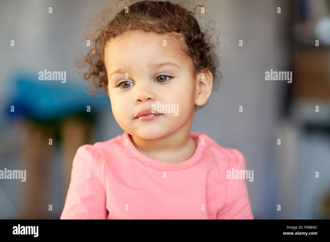 beautiful little mulatto baby girl face stock photo: 102217596 - alamy