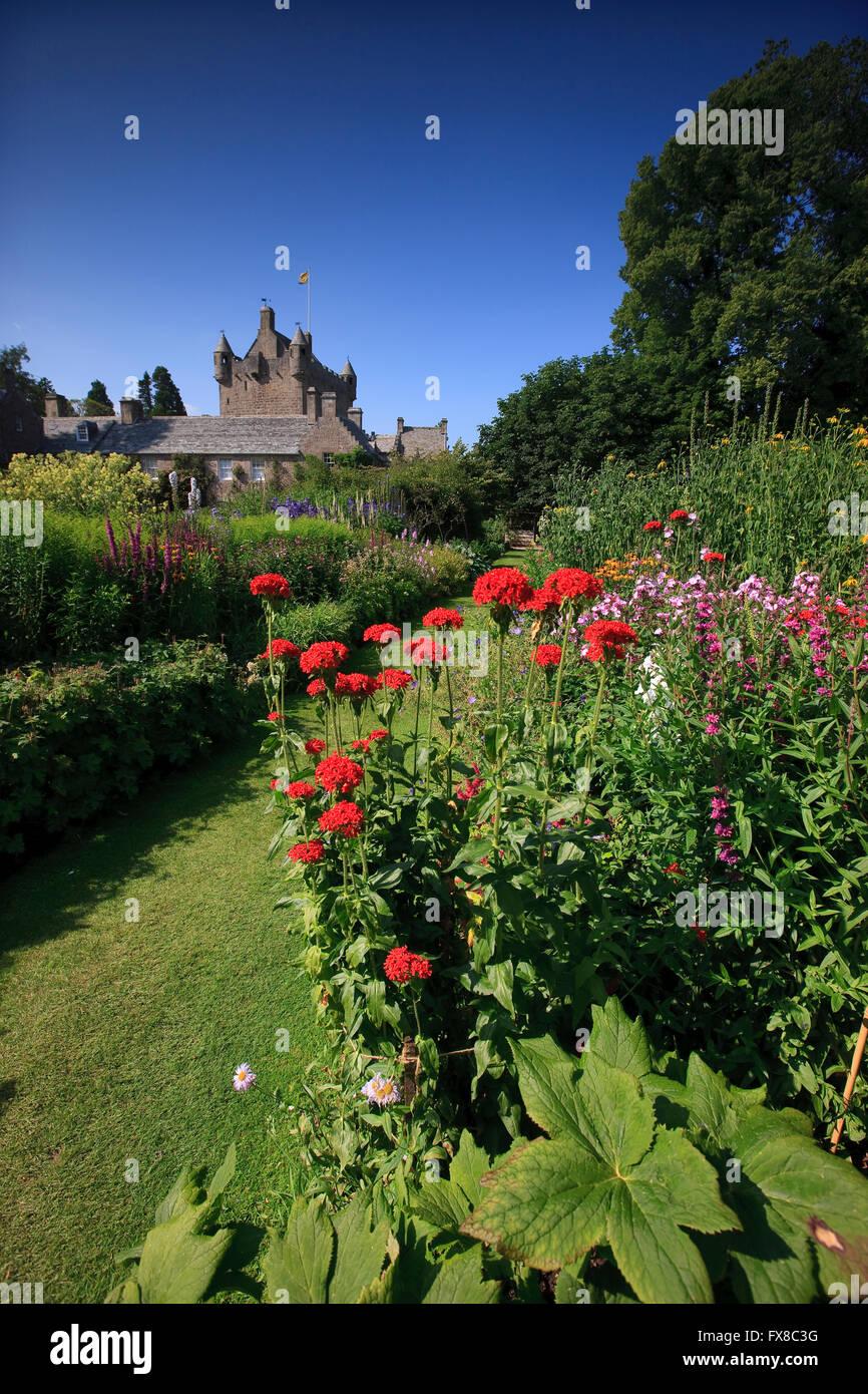 Cawdor castle from gardens, Nairn, Morayshire, N/E Scotland - Stock Image