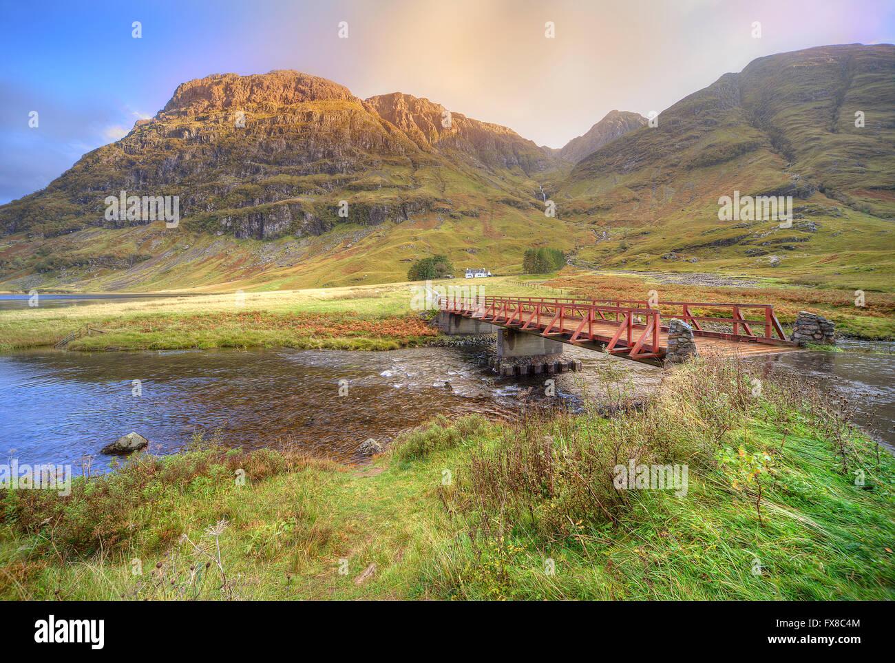 Pass of Glencoe, West Highlands - Stock Image