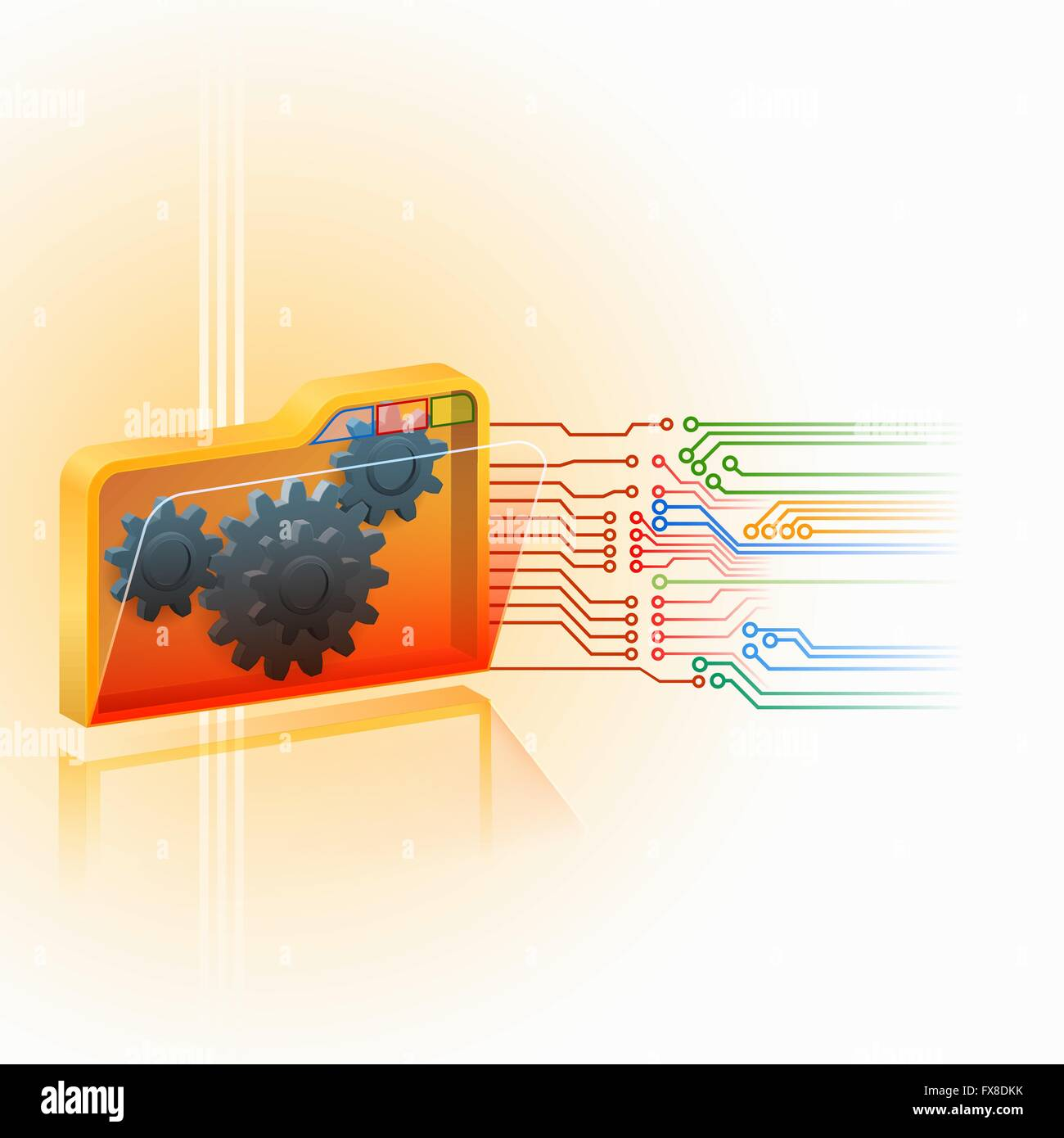 Integrated Circuits Stock Vector Images Alamy Circuit Schematic Symbols Abstract Background With Generic 3d Folder Symbol Artistic Designed Cogwheels Gear Inside And Electronic