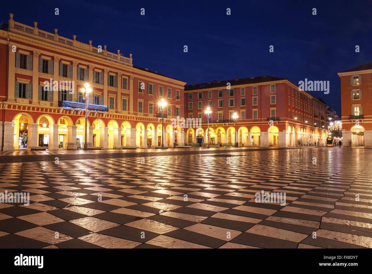 Nice, Place Massena, France Stock Photo