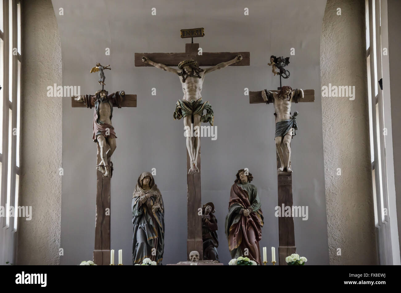 A Gothic Pilgrimage Chapel A Crucifixion Group By Hans Backoffen