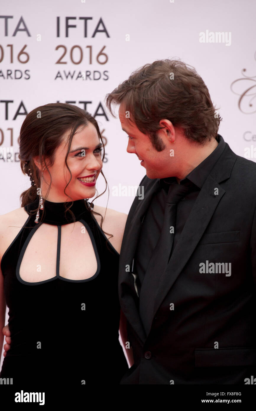 actress jennie jacques and actor moe dunford at the ifta film