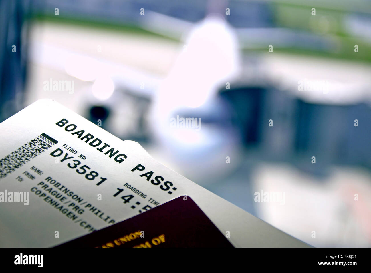 Uk Passport Boarding Pass Stock Photos & Uk Passport