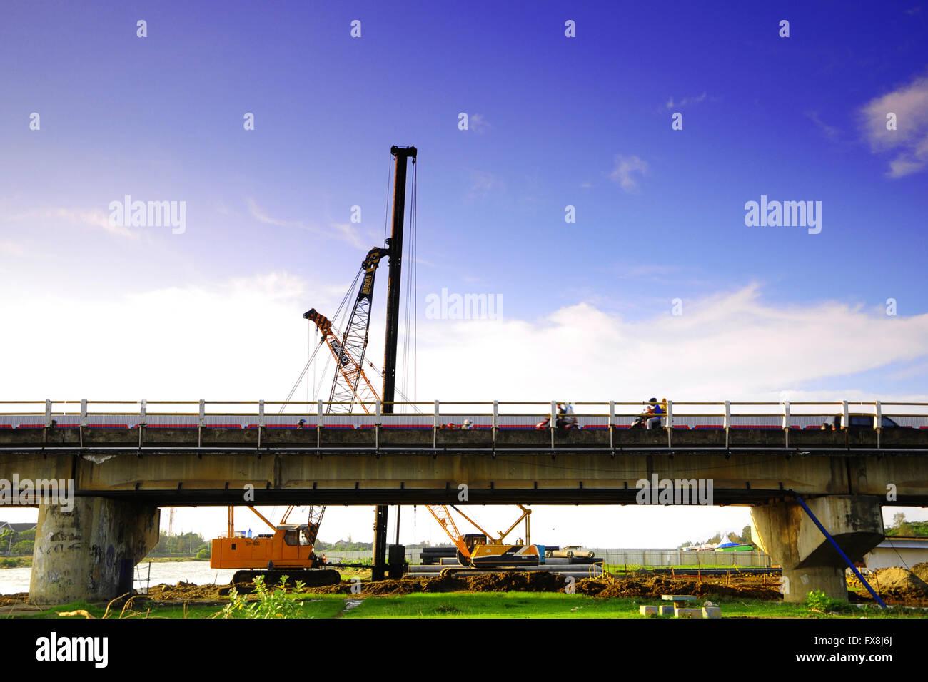 lamnyong bridge project in Banda Aceh, Indonesia Stock Photo