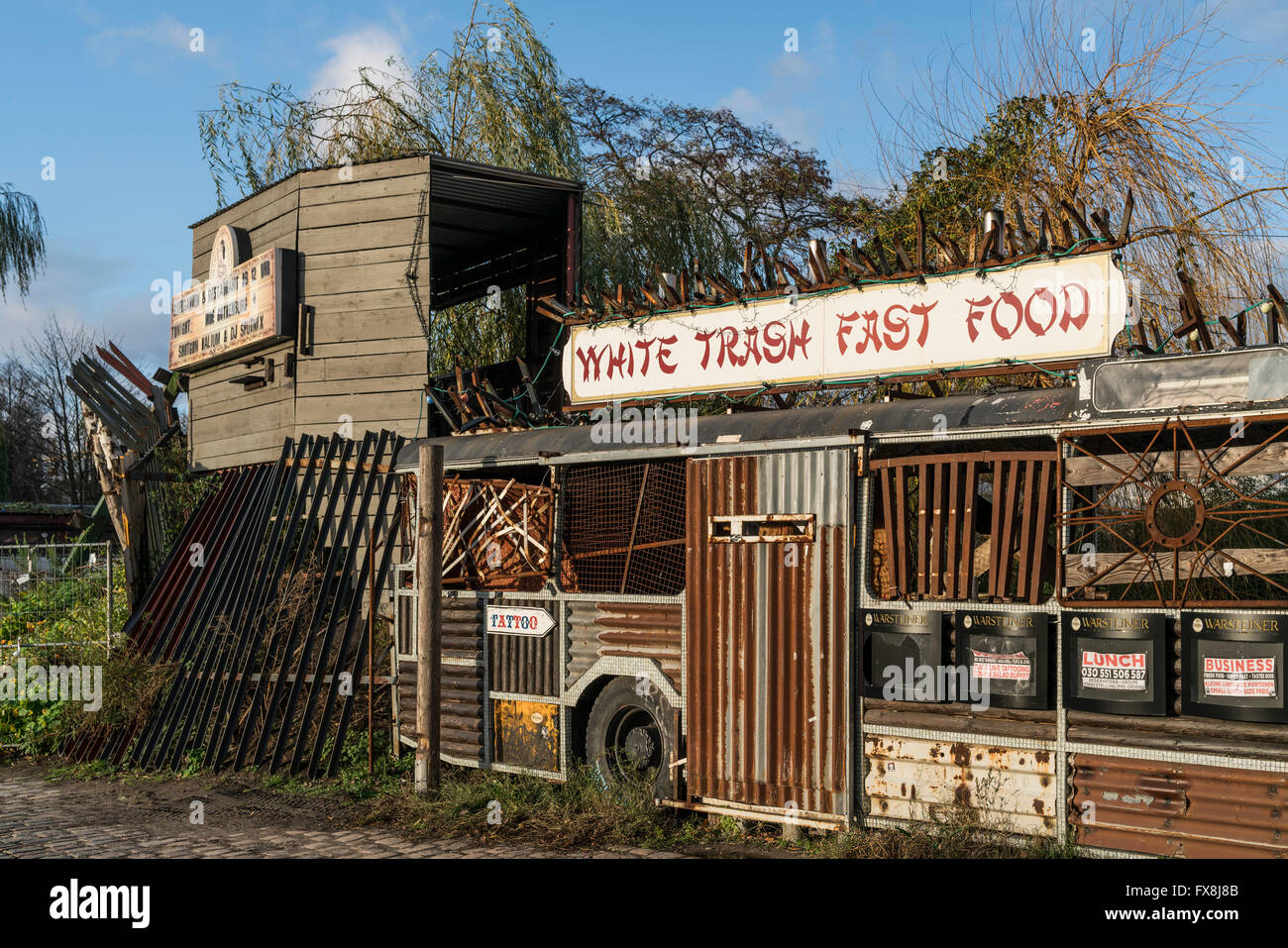 White Trash Fast Food, Restaurant, Arena , Alt Treptow, Berlin - Stock Image