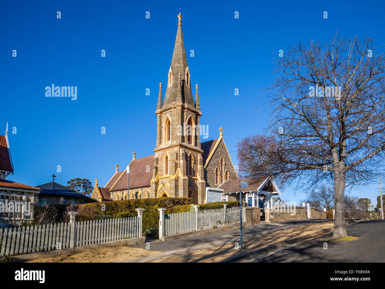 Australia, New South Wales, Monaro region, Cooma, view of St. Paul's Anglican Church - Stock Image