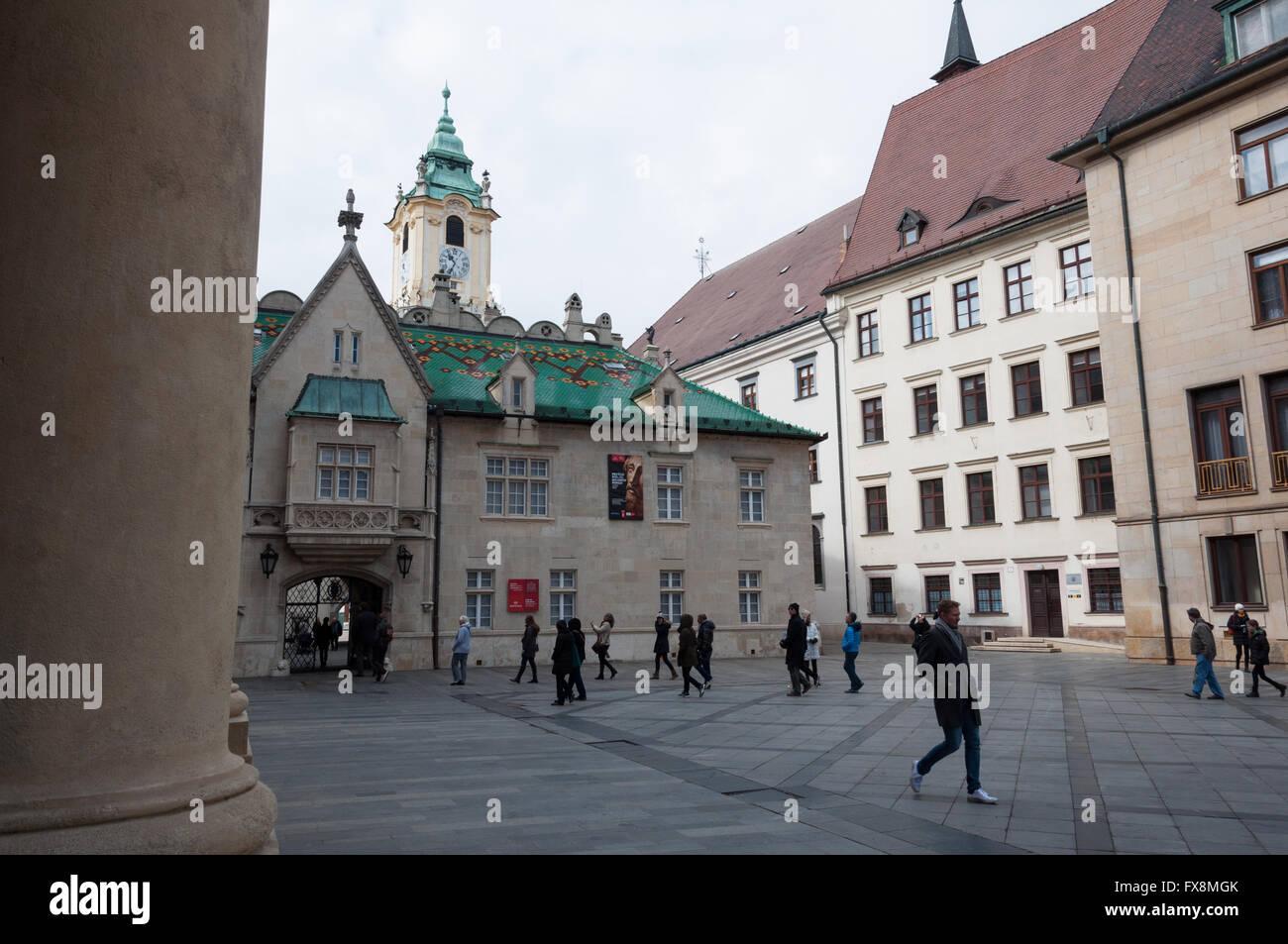 The Old Town Hall in Bratislava, Slovakia Stock Photo