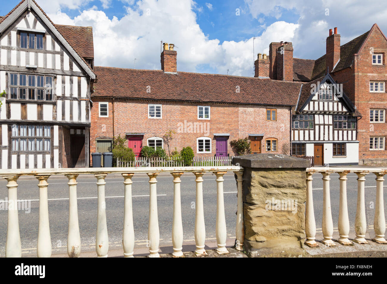 Historic buildings in the riverside town of Bewdley, Worcestershire, England, UK - Stock Image