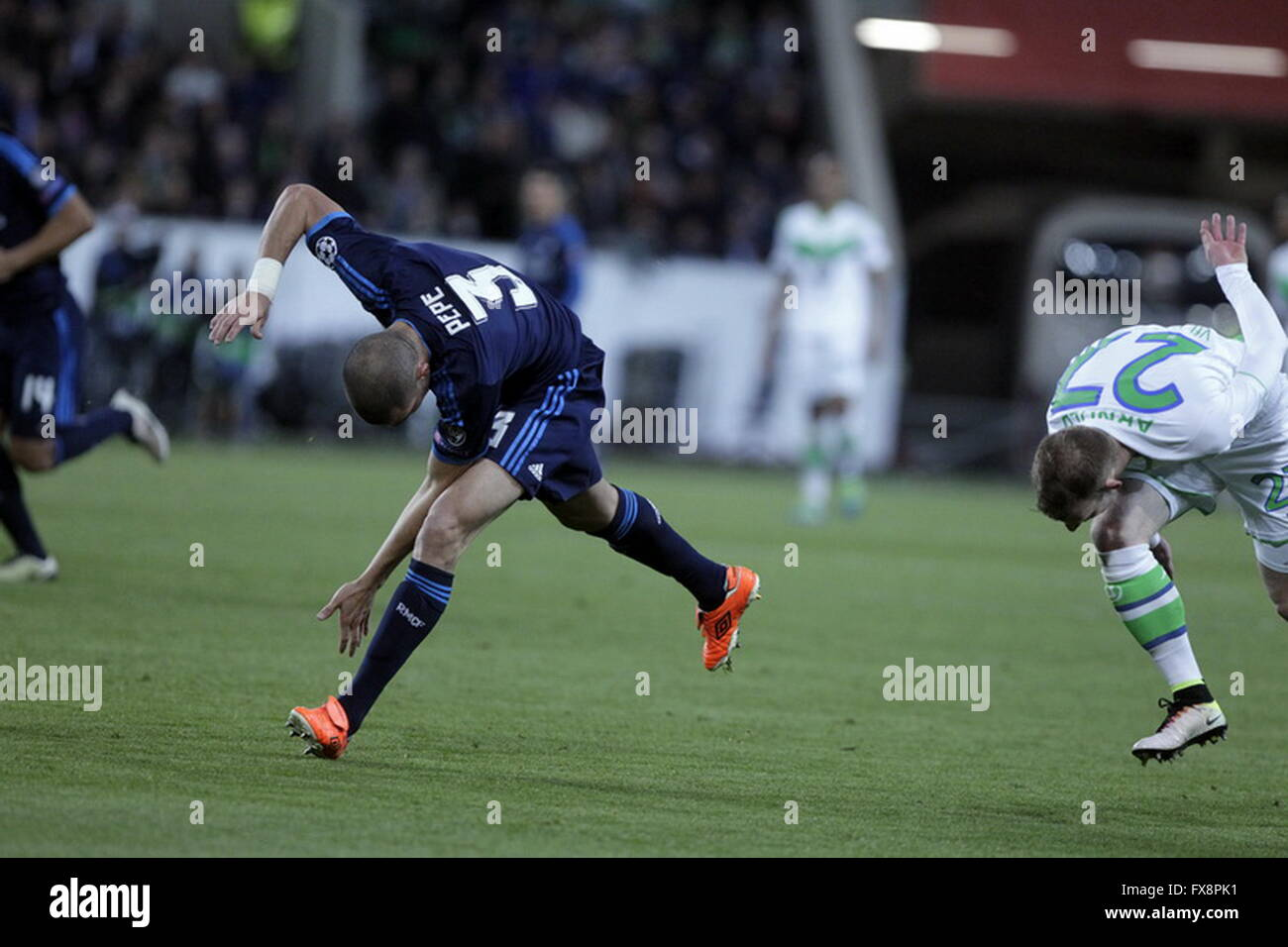 Pépé in action during the league champion Wolfsburg match - Real Madrid © Laurent Lairys Agence Locevaphotos - Stock Image