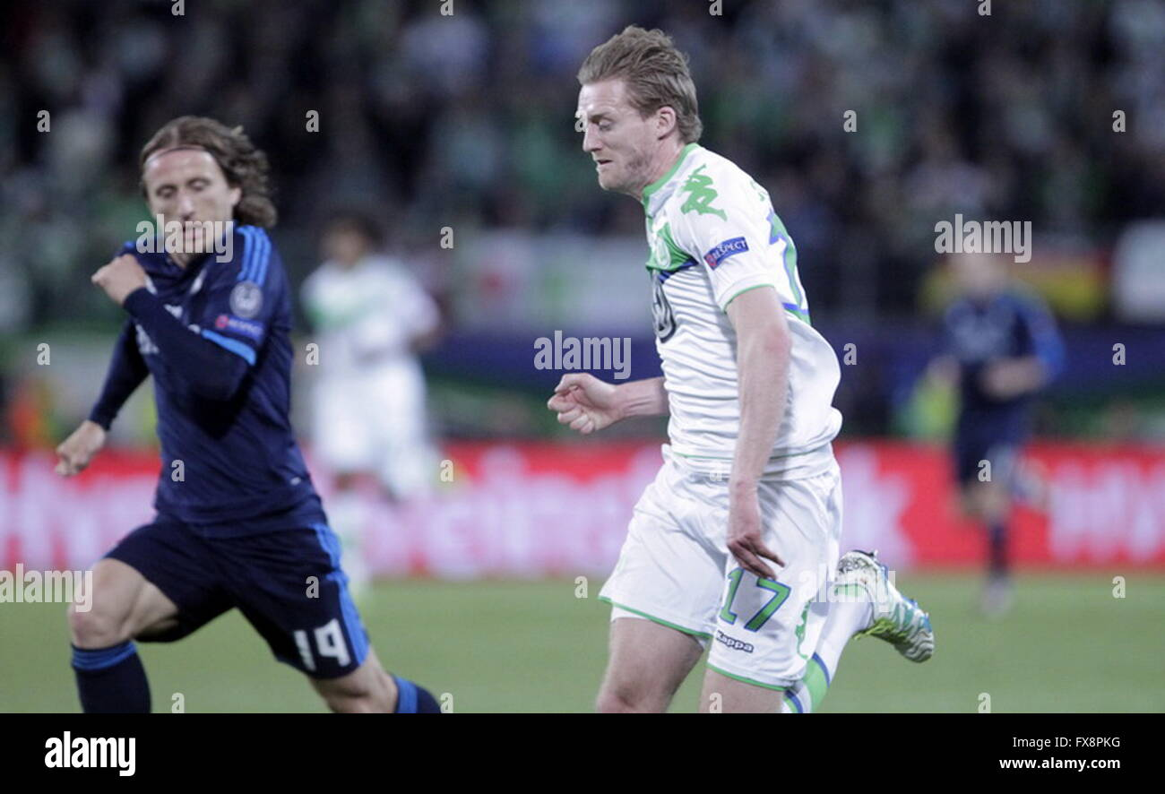 André Schürrle in action during the league champion Wolfsburg match - Real Madrid © Laurent Lairys - Stock Image