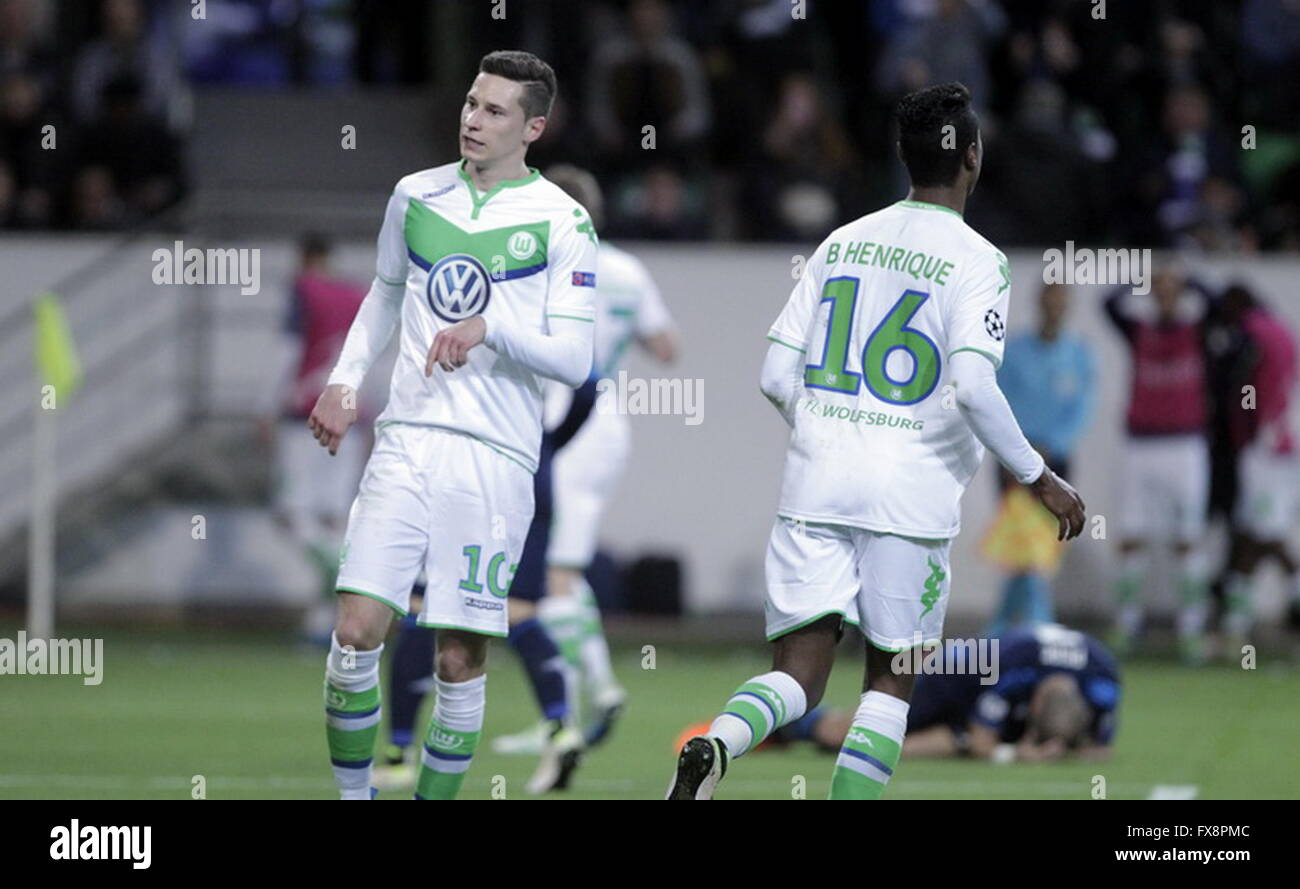 Julian Draxler in action during the league champion Wolfsburg match - Real Madrid © Laurent Lairys Agence Locevaphotos - Stock Image