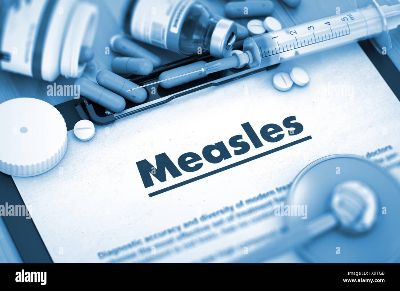 Measles. Medical Concept. - Stock Image