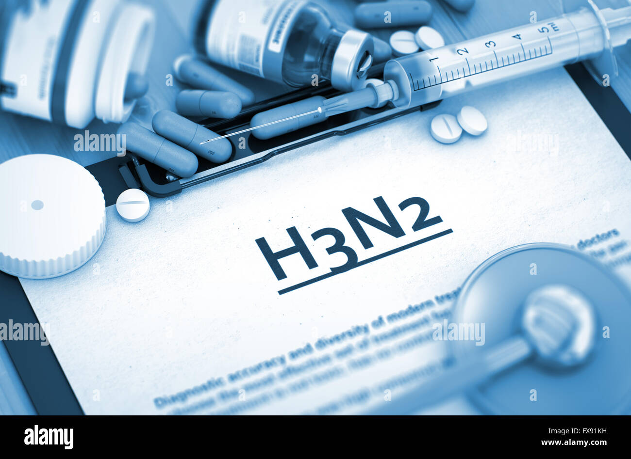 H3N2 Diagnosis. Medical Concept. - Stock Image