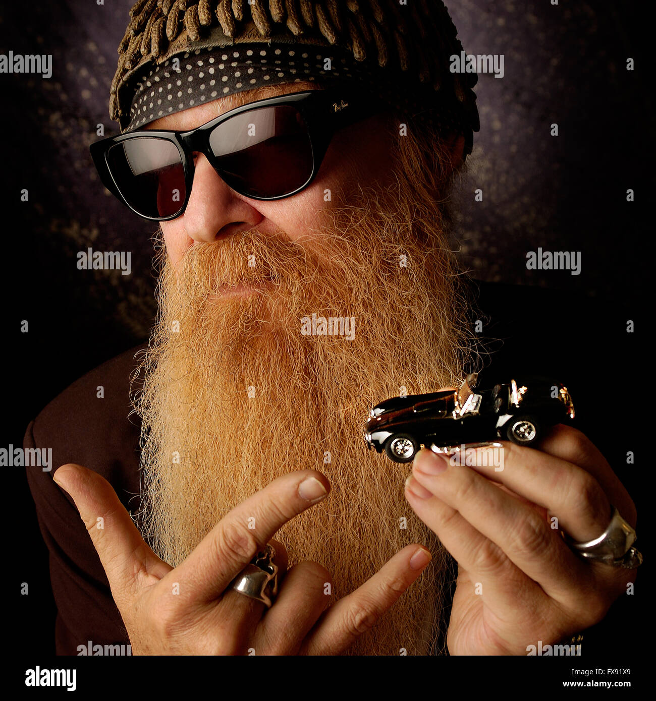 Billy Gibbons from ZZ Top - Stock Image