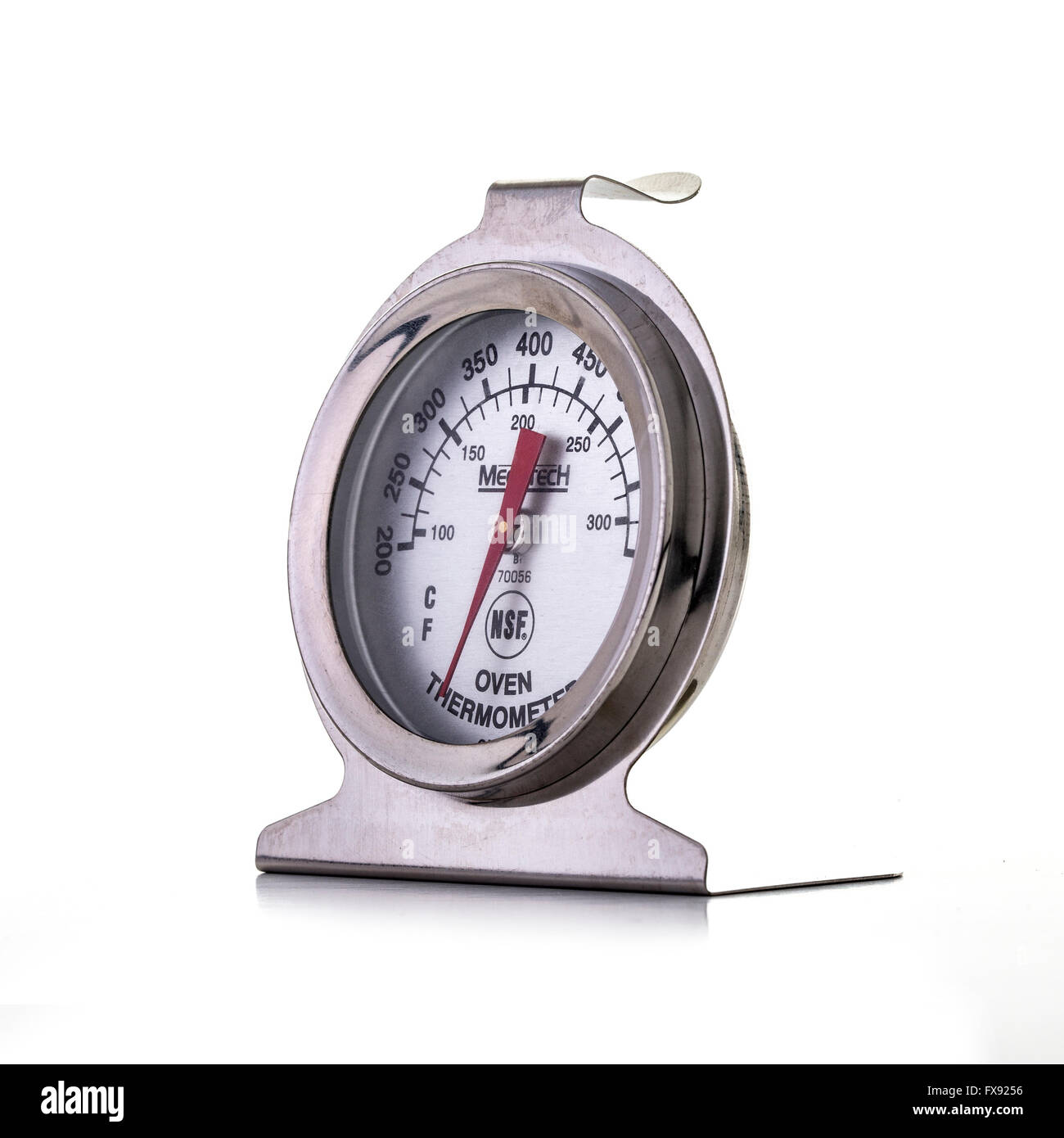 Oven Thermometer on a white background - Stock Image