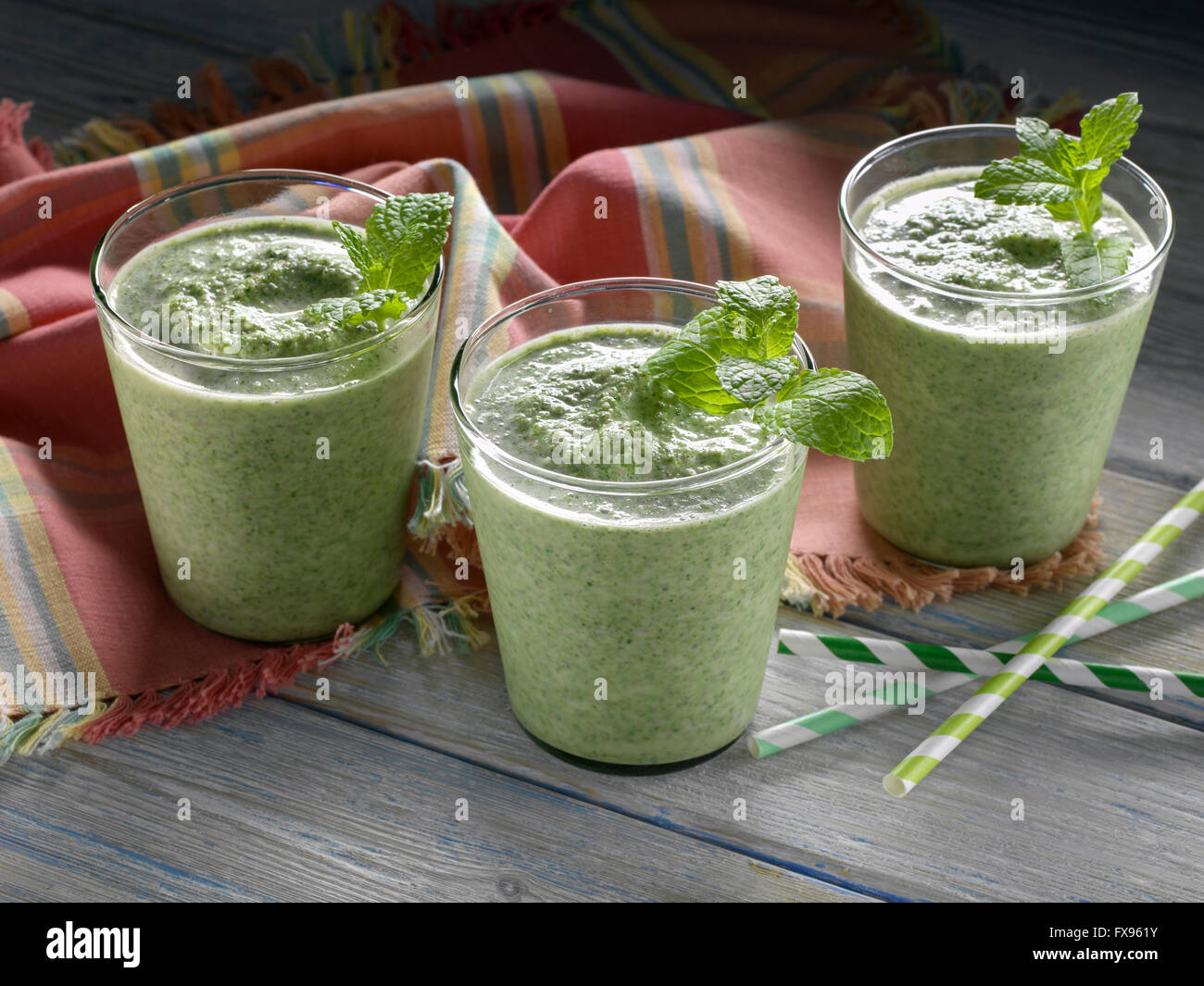Thin mint smoothie - Stock Image